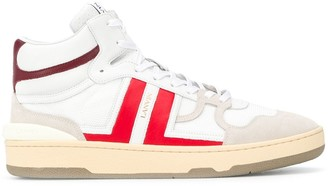 Lanvin High-Top Leather Sneakers