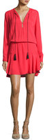Karina Grimaldi Pilar Crepe Blouson Mini Dress, Red