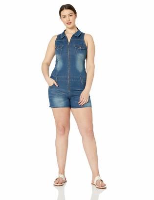 CG JEANS Cute Romper Club Shorts Sleeveless Zip up Juniors Fit