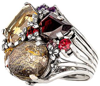 Stephen Dweck Silver Gemstone Ring