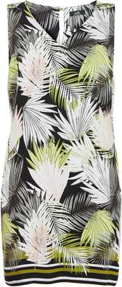 Wallis PETITE Black Palm Print Shift Dress