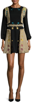 Cynthia Rowley Embroidered Raw Edge Dress