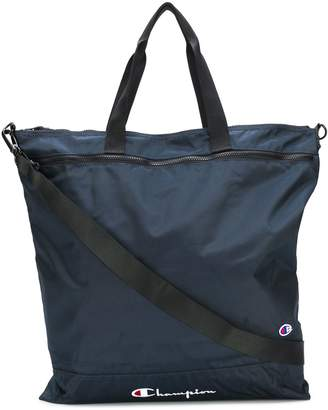 Champion zipped logo tote