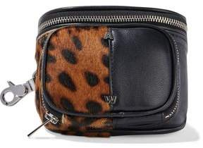 Alexander Wang Leather And Leopard-print Calf Hair Key Pouch