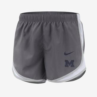 Nike Women's Running Shorts College Dri-FIT Tempo (Michigan)