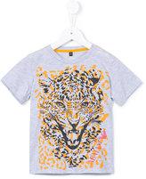 Armani Junior leopard print T-shirt - kids - Cotton - 4 yrs