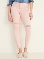 Old Navy Mid-Rise Distressed Rockstar Pop-Color Super Skinny Jeans for Women