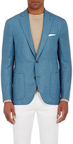 Luciano Barbera MEN'S DONEGAL-EFFECT TWO-BUTTON SPORTCOAT-BLUE SIZE 40
