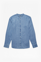 French Connection Grandad Collared Denim Shirt