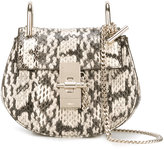 Chloé Nano Drew shoulder bag - women - Lamb Skin/Snake Skin - One Size