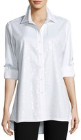 Berek Sequined-Front Easy Shirt, Petite