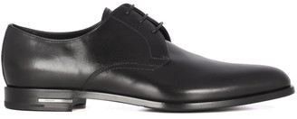 Prada Logo Plaque Lace-Up Derby Shoes