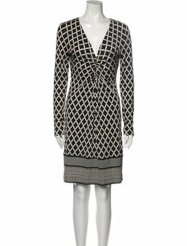 Tory Burch Silk Knee-Length Dress Black