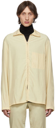 Lemaire Beige High Neck Zipped Jacket