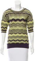M Missoni Knit Quarter Sleeve Top
