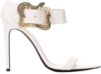 Just Cavalli Snake Buckle Sandals