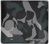 Alexander McQueen Blue Camouflage Wallet