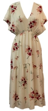 Taylor Floral-Print A-Line Midi Dress