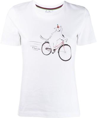 Paul Smith cycling dog print T-shirt