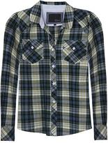 Kendra Buttondown Plaid Shirt In Green