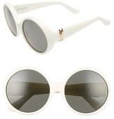 Saint Laurent Women's 60Mm Round Sunglasses - Black/ Grey
