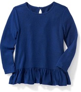 Old Navy Plush-Knit Ruffle-Hem Top for Toddler Girls