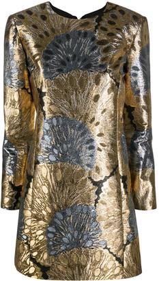 Saint Laurent Jacquard-Effect Mini Dress