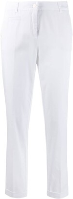 Cambio creased tapered trousers