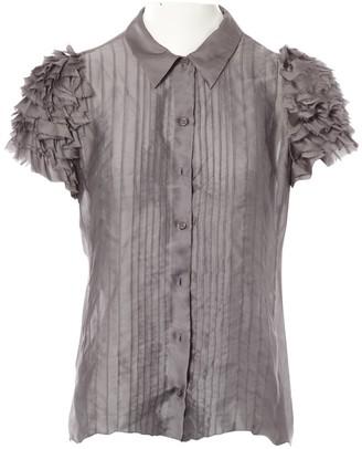 Prada Grey Silk Top for Women