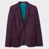 Paul Smith Women's Damson Wool-Hopsack Blazer