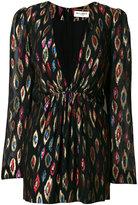 Saint Laurent metallic plunge mini dress