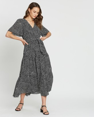 Atmos & Here Flutter Sleeve Dress