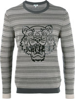 Kenzo tiger print branded sweatshirt - men - Cotton - XS