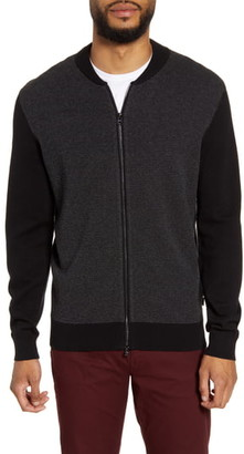 BOSS Baio Colorblock Zip Cardigan