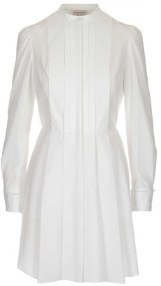 Alexander McQueen Pleated Shirt Dress