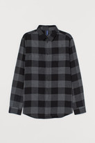 H&M Cotton Flannel Shirt - Gray
