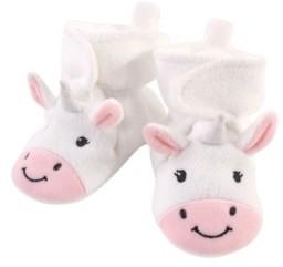 Hudson Baby Baby Girls and Boys Unicorn Cozy Fleece Booties