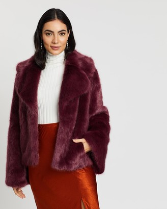 Unreal Fur Women's Red Jackets - Madam Butterfly Jacket - Size One Size, S at The Iconic