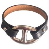 Hermes Black Leather Bracelet