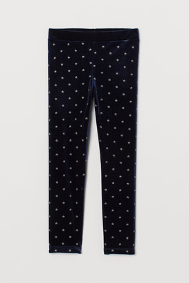 H&M Glittery Velour Leggings