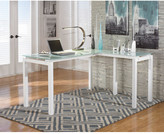 White Baraga L-Shape Desk