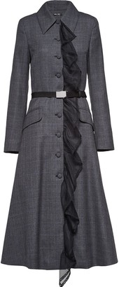 Miu Miu Prince Of Wales Checked Coat