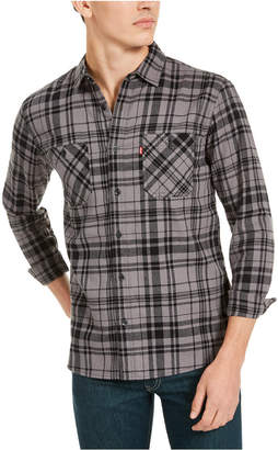 Levi's Men Miguel Regular-Fit Plaid Flannel Shirt