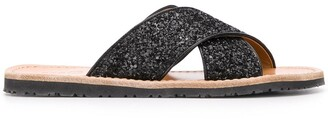 Car Shoe Embroidered Open-Toe Sandals