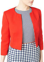 Precis Petite Collarless Cropped Jacket