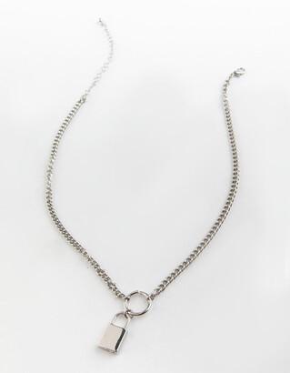 Full Tilt Lock Charm Necklace