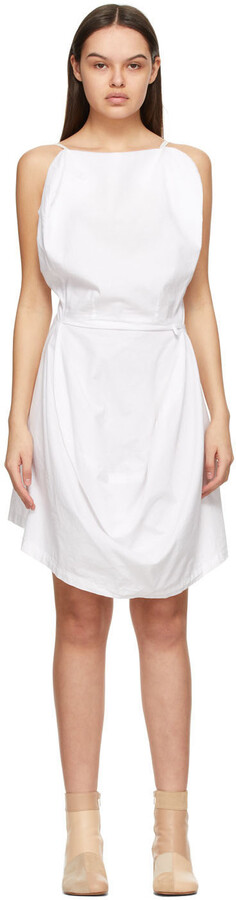 Thumbnail for your product : MM6 MAISON MARGIELA White Boiled Cotton Chair Cover Dress