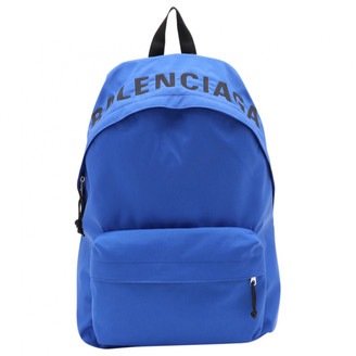 Balenciaga Blue Cloth Backpacks