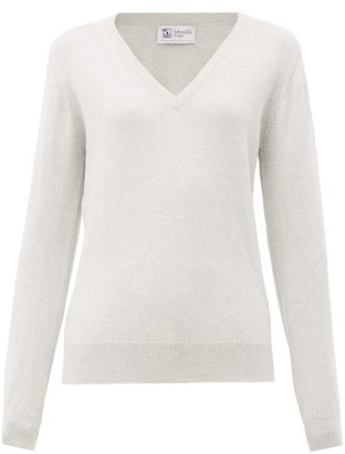 Johnstons of Elgin Johnston's Of Elgin - V-neck Cashmere Sweater - Grey