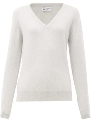 Johnstons of Elgin Johnston's Of Elgin - V-neck Cashmere Sweater - Womens - Grey